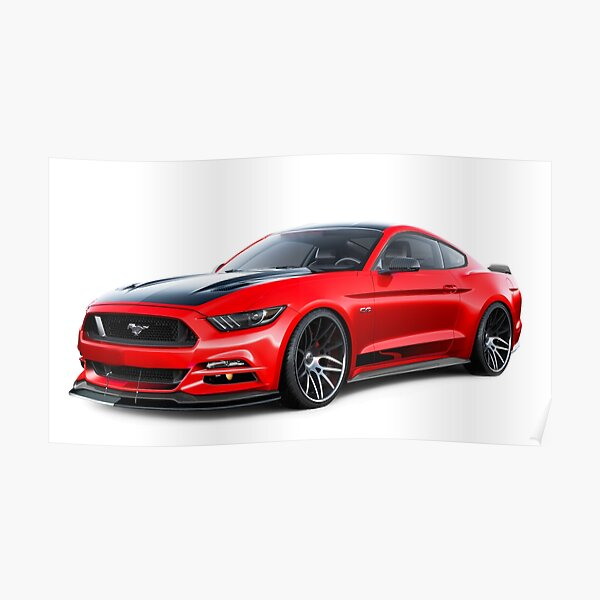 Ford Mustang GT 2015 Poster