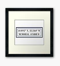 Memorial Stadium Framed Print