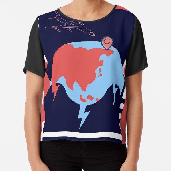 Abstract World Chiffon Top