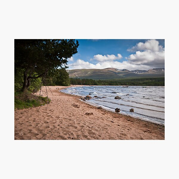 Loch Morlich and the Cairngorm Mountains Photographic Print