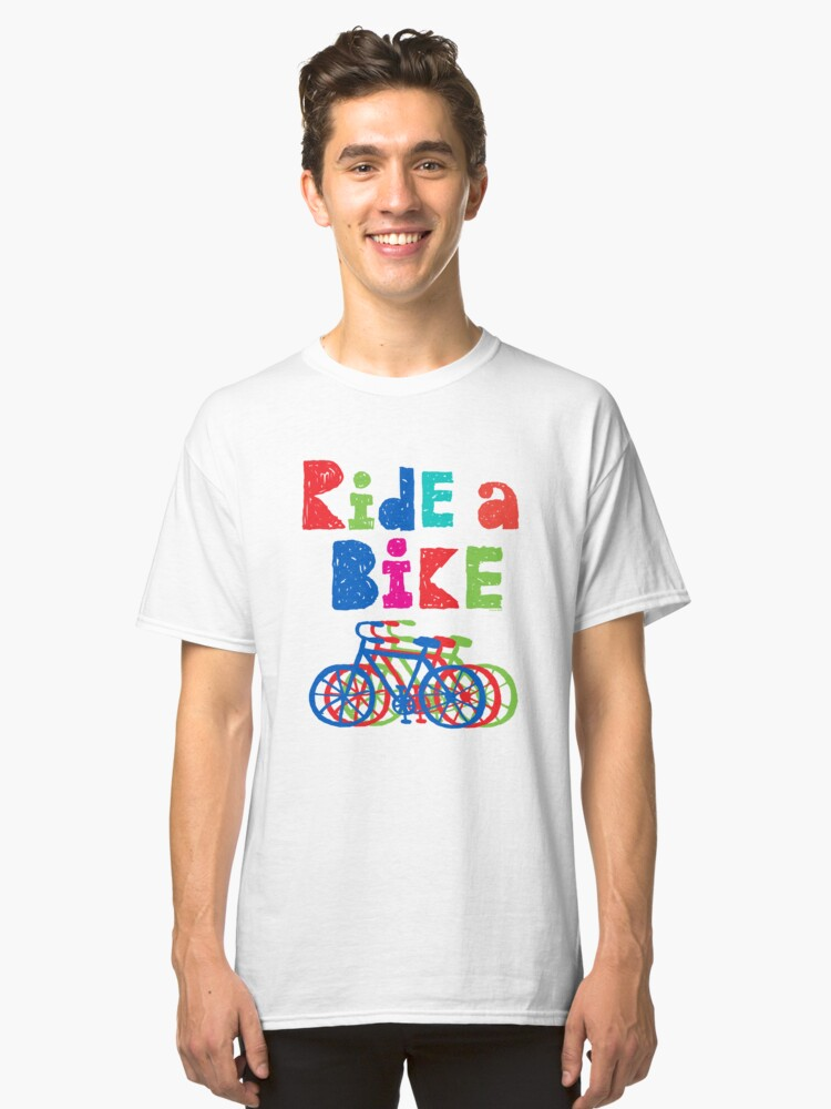Ride a Bike sketchy - white T Classic T-Shirt Front