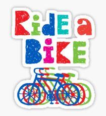 Ride a Bike sketchy - white T Sticker