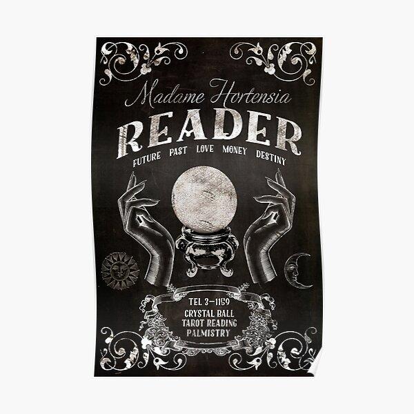 Crystal Ball Reader Vintage Sign Poster