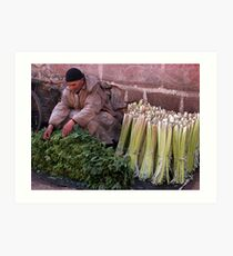 Fresh Spinach Marrakesh. Art Print