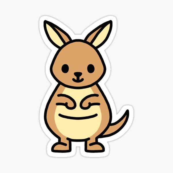 Kangaroo Sticker
