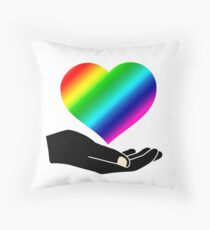 LGBTI Heart Throw Pillow