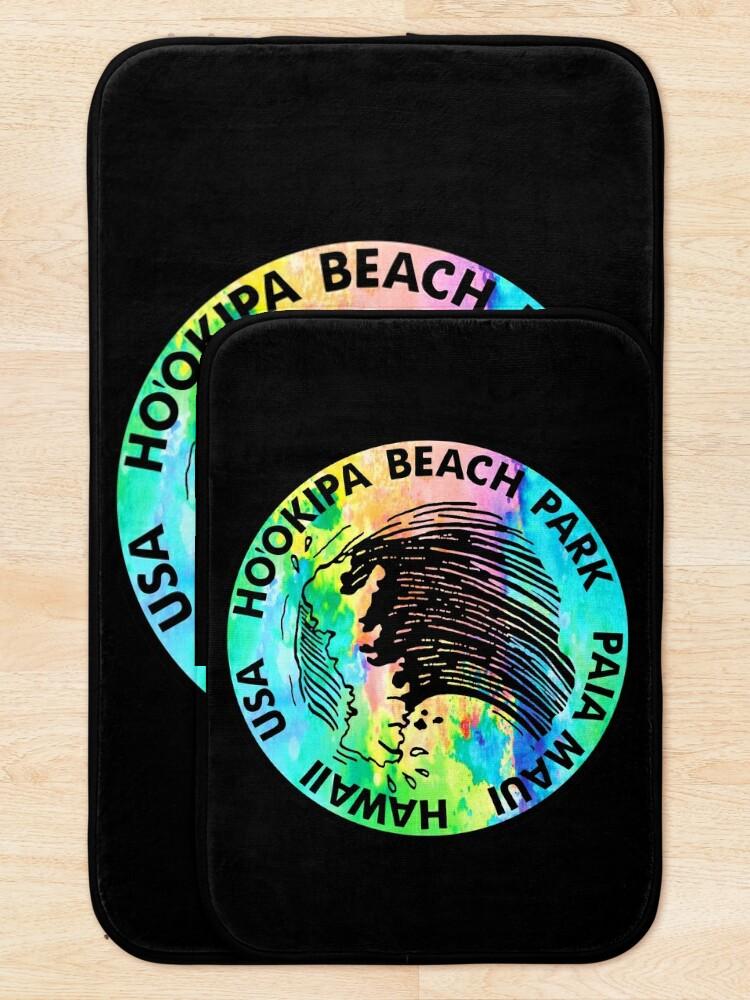 Alternate view of Surf Ho'okipa Beach Park Maui Hawaii Surfing Surfboard  Bath Mat