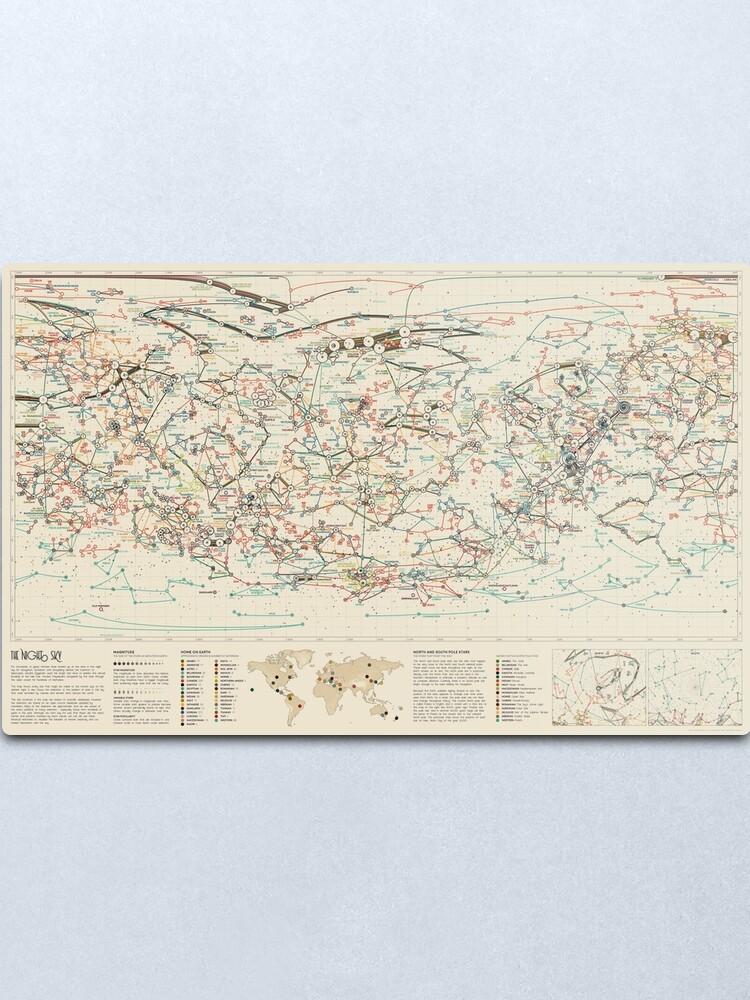 Alternate view of World Constellations Metal Print