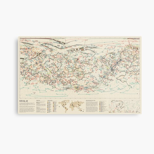 World Constellations Metal Print