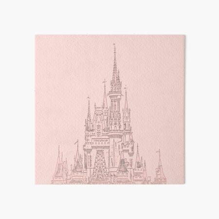 Rose Gold Magic Castle Carving Art Board Print