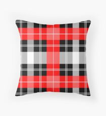 Red and Black Plaid Floor Pillow