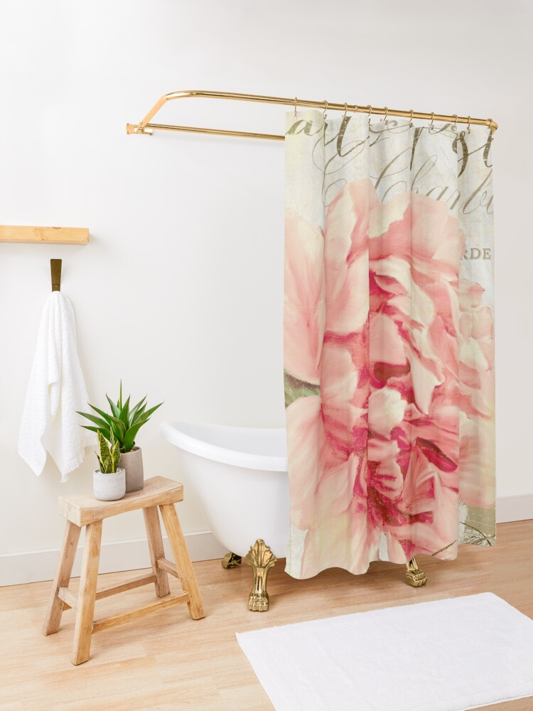 Alternate view of Bonjour Peony II Shower Curtain