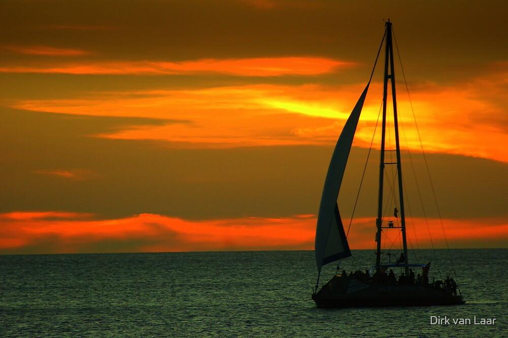 Sunset sailin' by Dirk van Laar