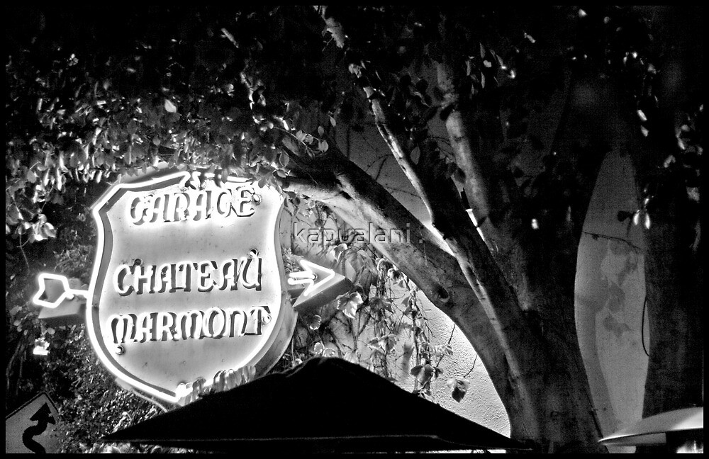 Chateau Garage Sign (2) by kapualani .