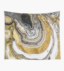 Stone Prose Gold Geode Wall Tapestry
