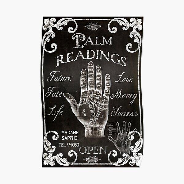 Vintage Palmistry Sign Poster