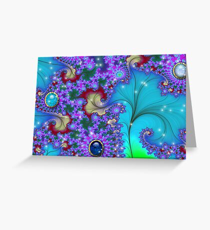 Fractal Floral Gems # 3 Greeting Card