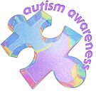 Autism awareness pastel puzzle piece by bmgdesigns