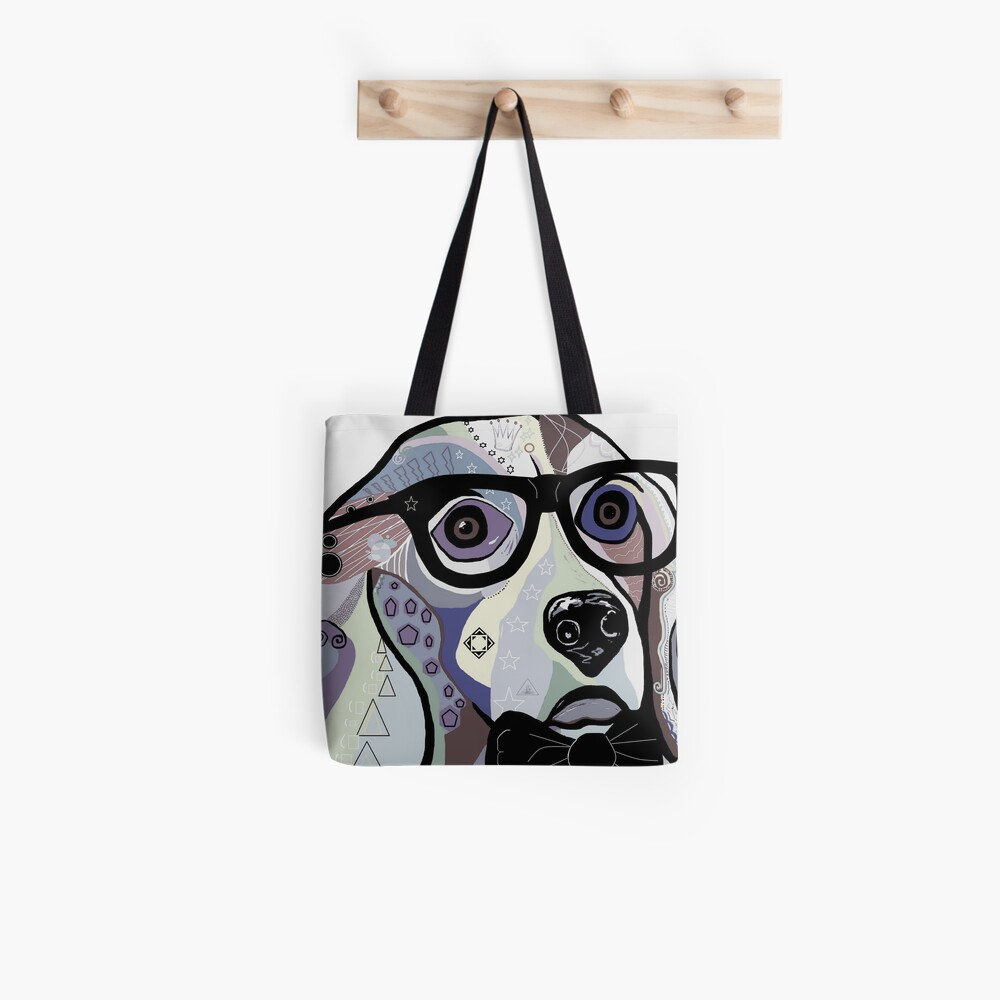 Sophisticated Beagle Denim Tote Bag