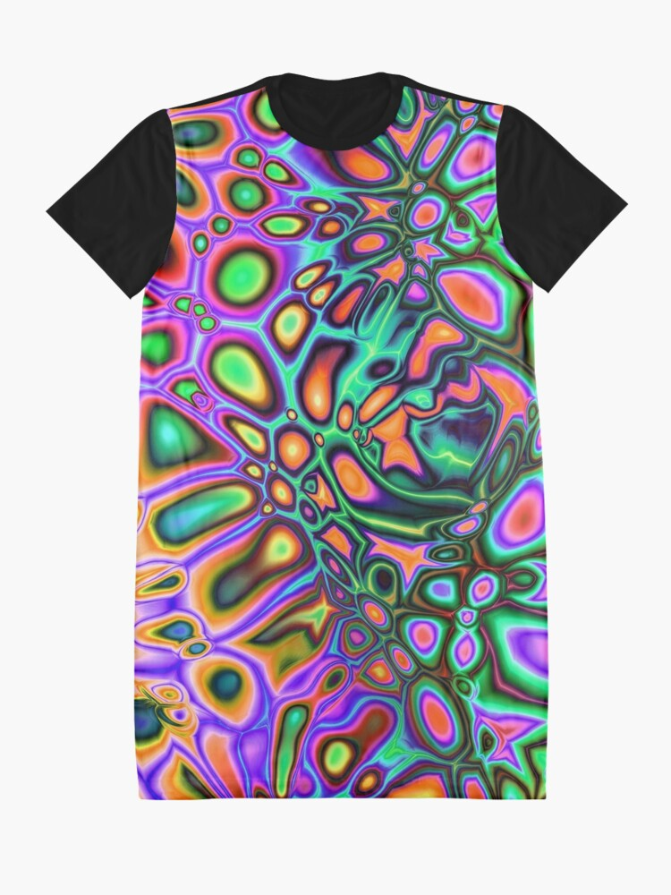 Alternate view of Pop Art Abstract Graphic T-Shirt Dress