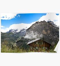 Sunny day in Alps Poster