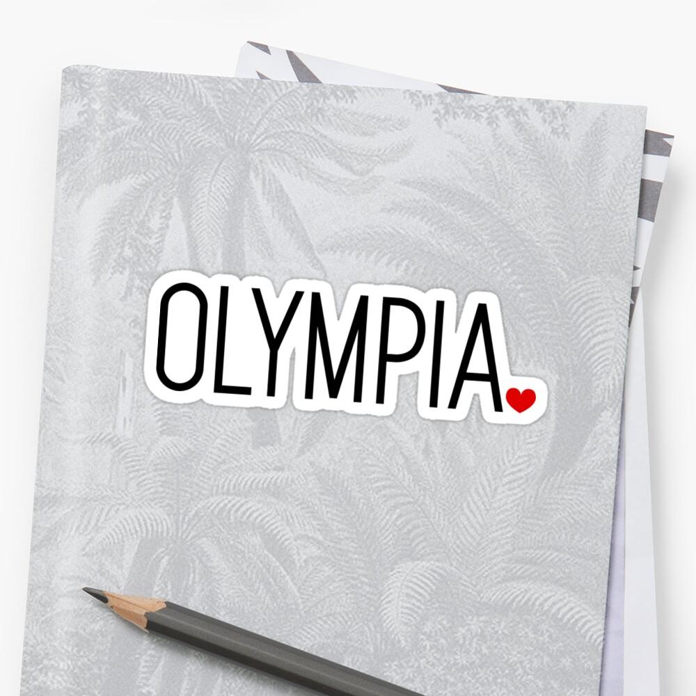 Olympia, WA | Washington Sticker