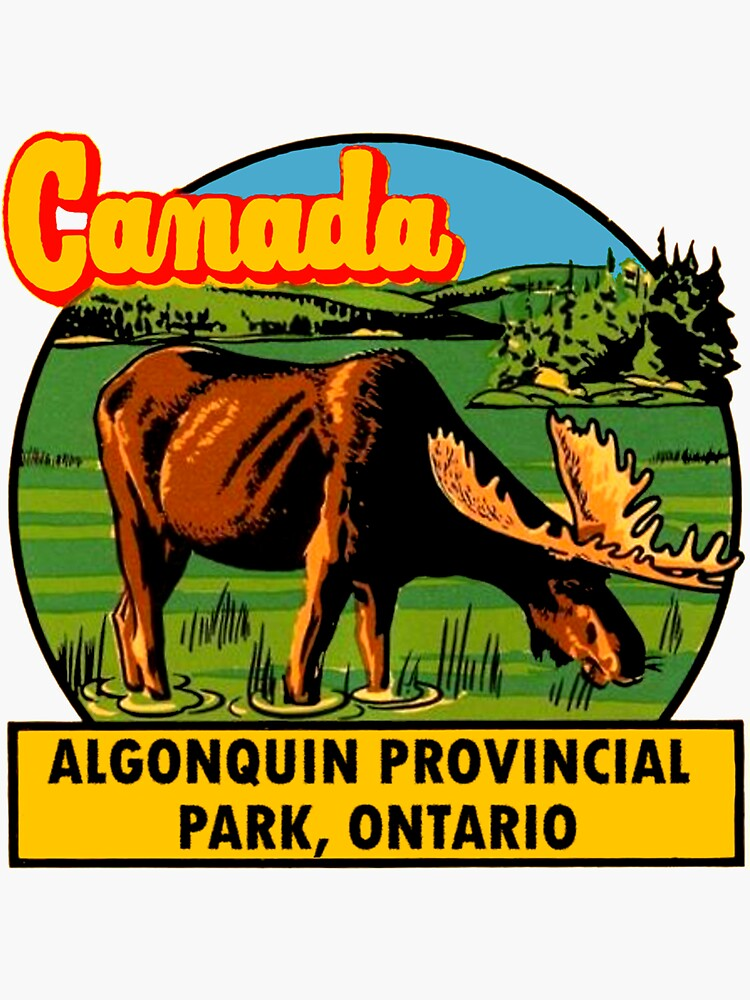 Algonquin Provincial Park Ontario Vintage Travel Decal by hilda74