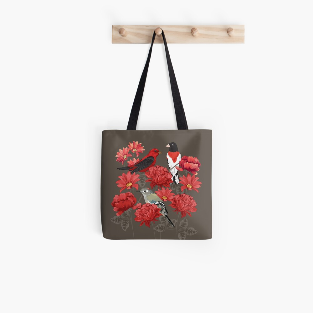 Birds and Roses Tote Bag