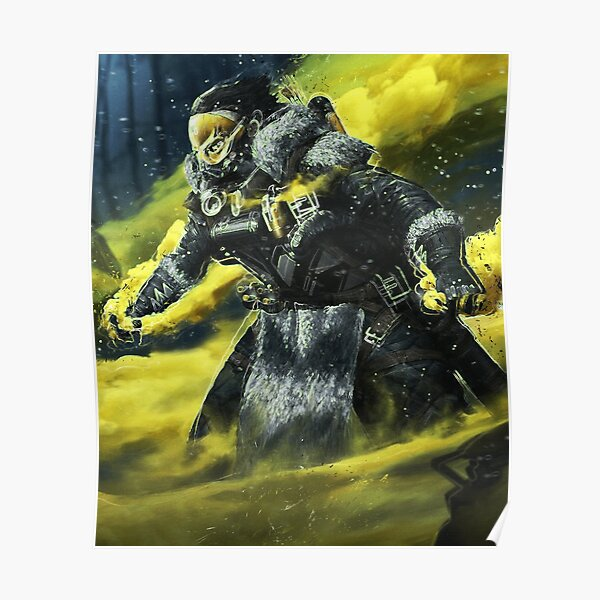 Wall Art Gift Present APEX LEGENDS CAUSTIC Video Game Poster UNFRAMED