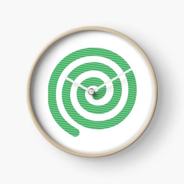 #Square #Green #Spiral #Rug, Symbol, Design, Illustration, sign, shape Clock