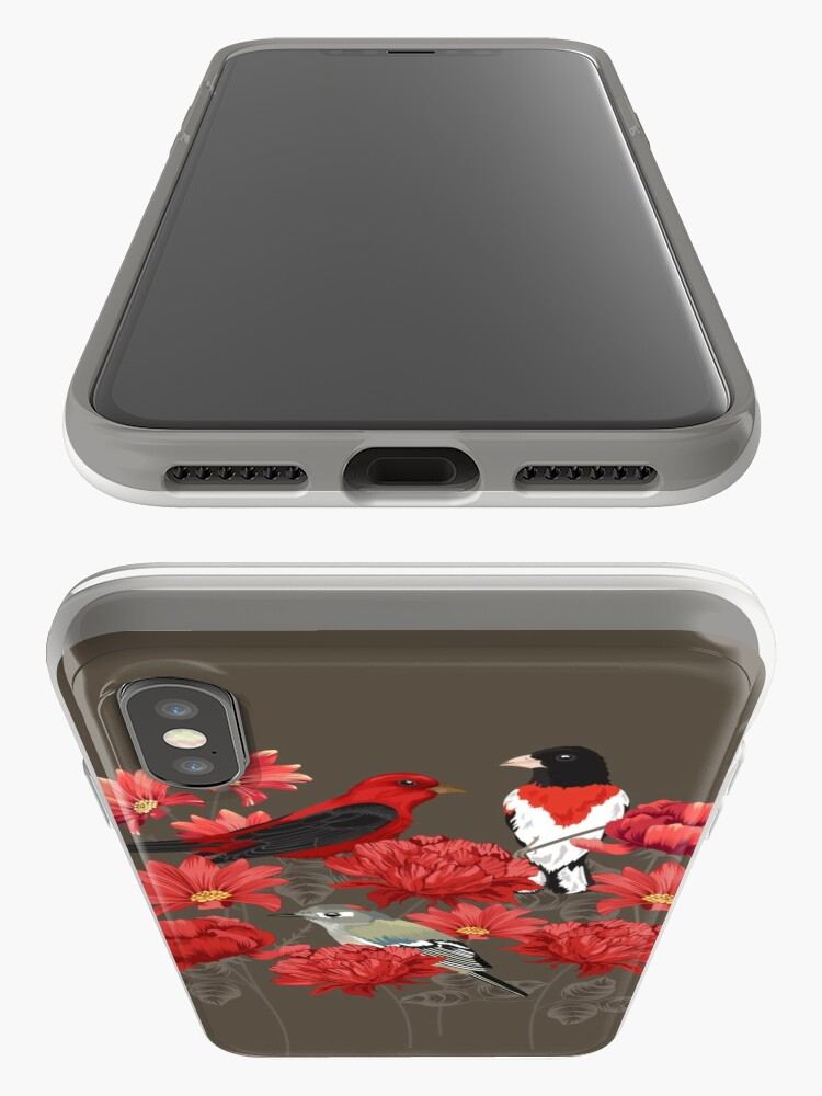 Alternate view of Birds and Roses iPhone Cases & Covers