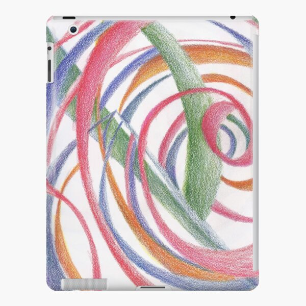 Whirlpool, Colorful Swirls Abstract Drawing by Courtney Hatcher iPad Snap Case