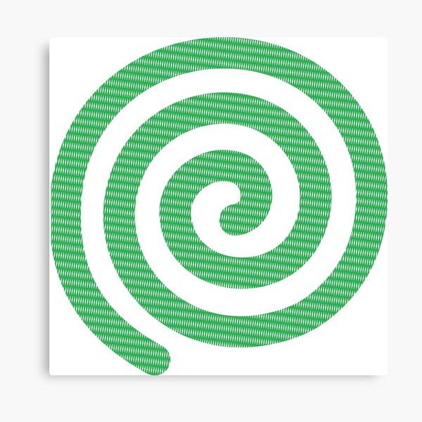 #Green #Spiral #Rug, Symbol, Design, Illustration, sign, shape Canvas Print