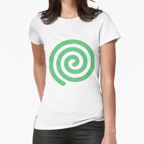 #Green #Spiral #Rug, Symbol, Design, Illustration, sign, shape Fitted T-Shirt