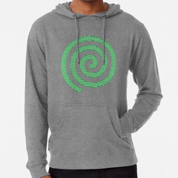 #Green #Spiral #Rug, Symbol, Design, Illustration, sign, shape Lightweight Hoodie