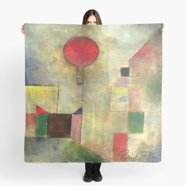 Paul Klee | Red Balloon | Klee-inspired Fine Art w/ Signature Scarf