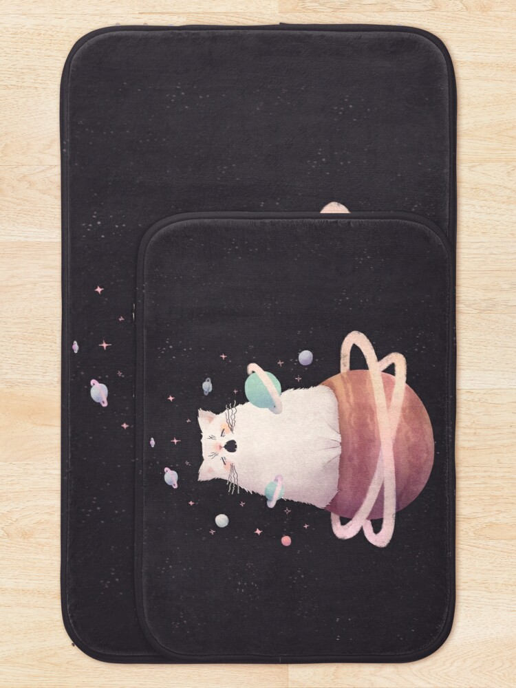 Alternate view of Yawning Space God Cat Bath Mat