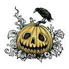 Jack-O-Lantern Halloween by DianaLevinArt