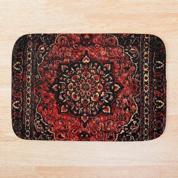 Persian carpet look in rose  Bath Mat