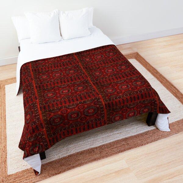 Red Oriental rug look  Comforter