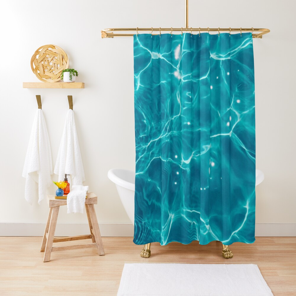 Water - Elements Shower Curtain