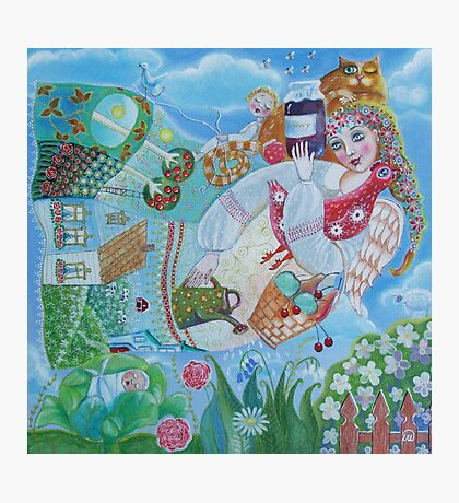 Mom - folk art painting Photographic Print