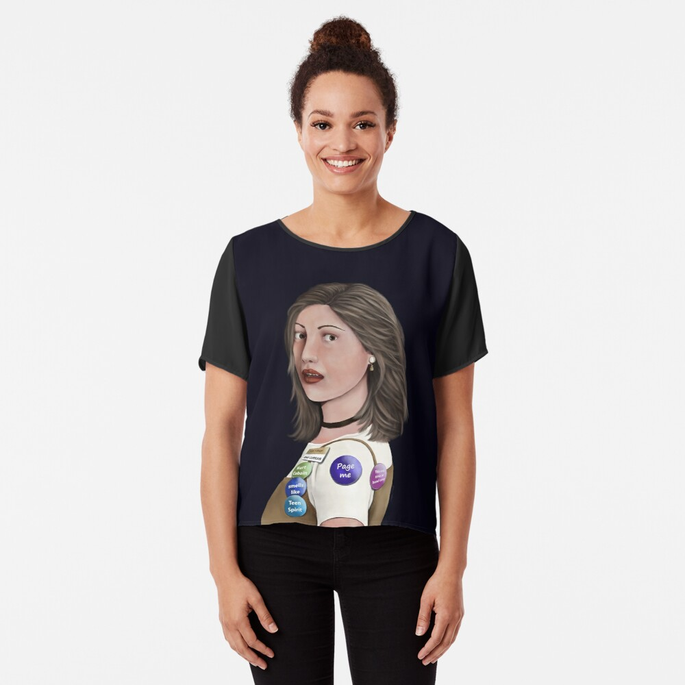 90's Girl With The Pearl Earring Chiffon Top