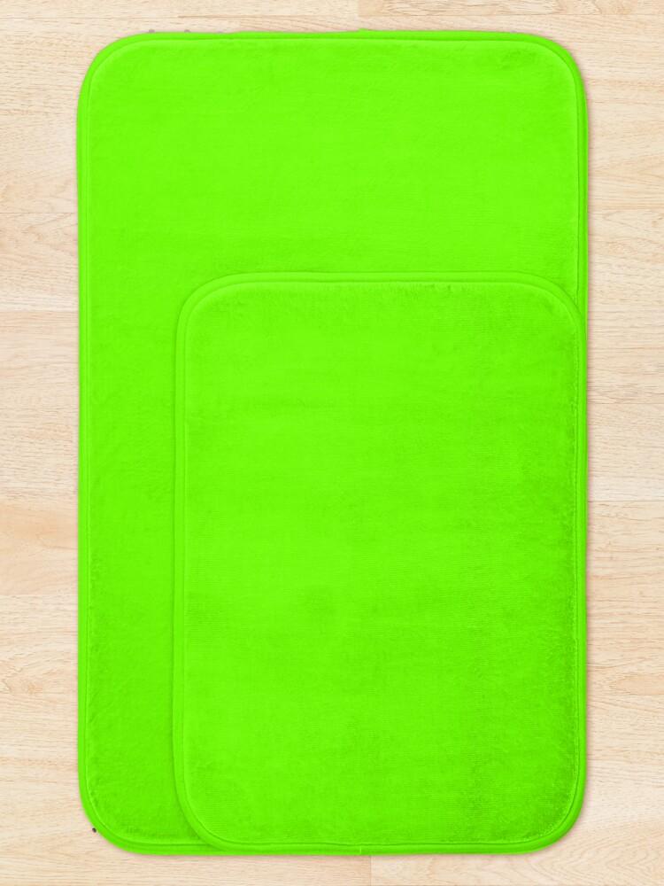 Alternate view of Super Bright Fluorescent Green Neon Bath Mat
