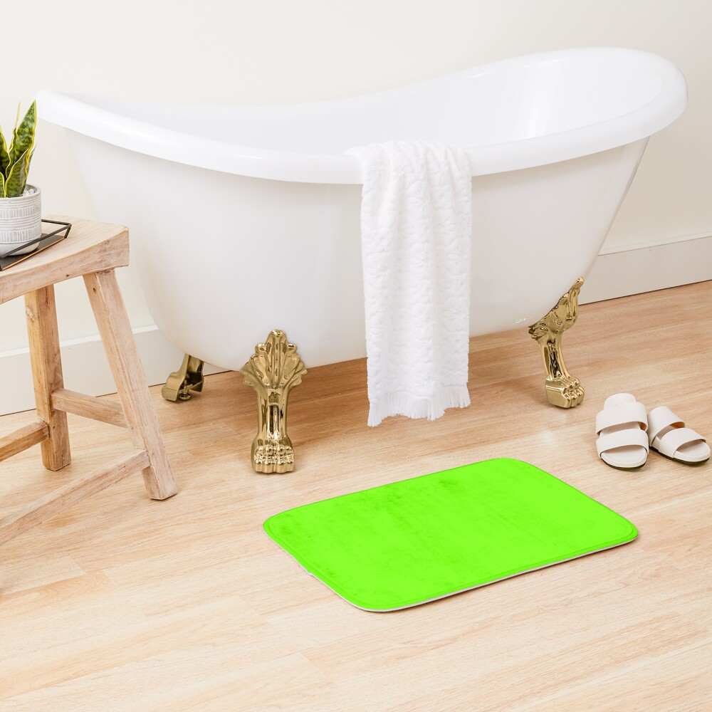 Super Bright Fluorescent Green Neon Bath Mat