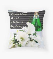 Wedding Toast Throw Pillow