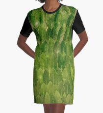 Leaves - Nature Graphic T-Shirt Dress