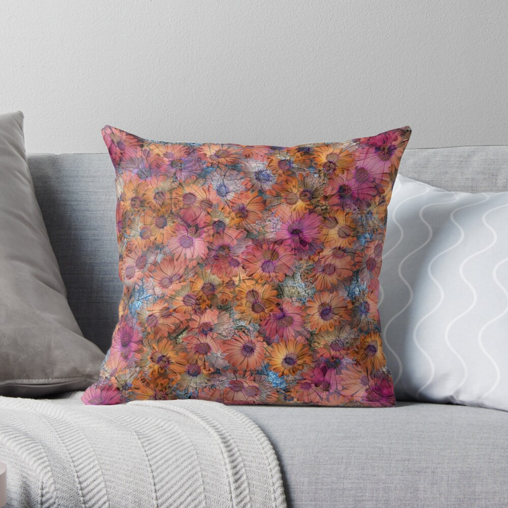 AFRICAN DAISY MADNESS Throw Pillow