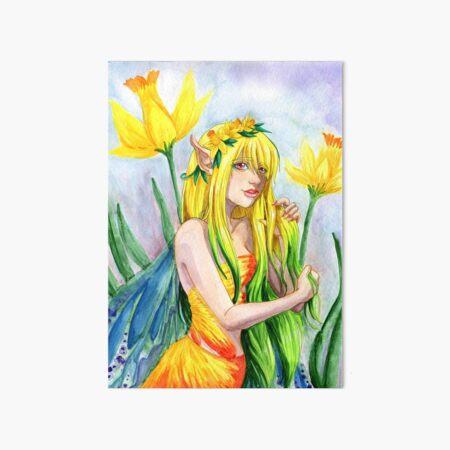 Daffodil Fairy Art Board Print
