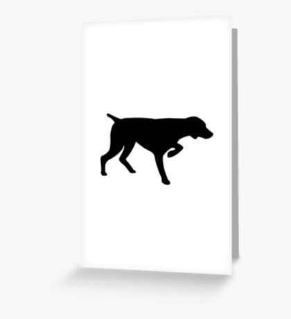 German Shorthair Pointer Silhouette Greeting Card